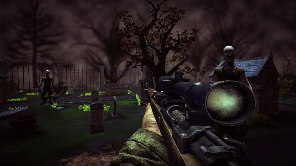 Descargar zombie cementerio VR disparos para Android