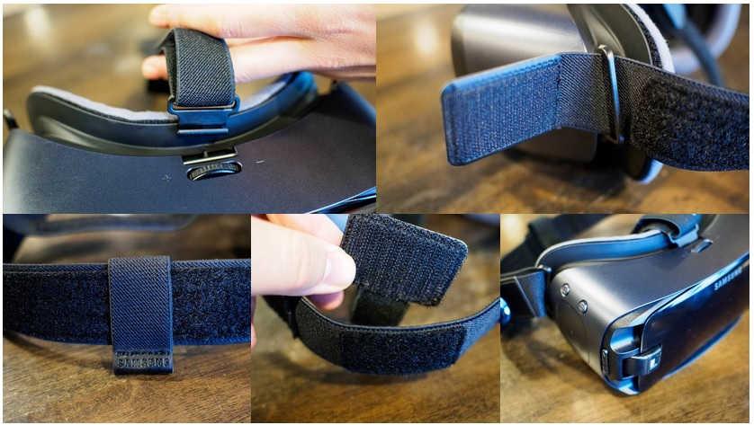Imagenes para poder armar el visor Gear VR.