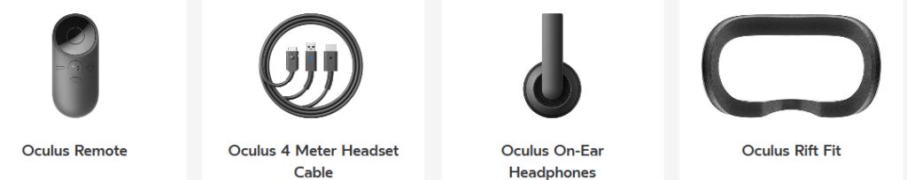 Accesorios perifericos para Oculus Rift